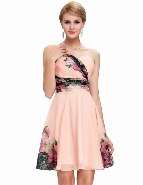 pattern homecoming dress cheap beaded knee length organza women cocktail dresses