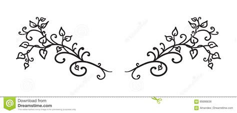 tattoo fonts underline fancy flower design vector cartoondealer