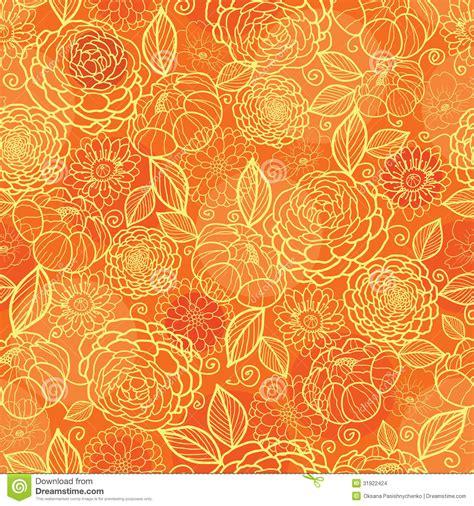 seamless orange pattern golden orange floral texture seamless pattern stock images