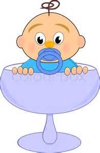 baby mit nippel blauem glas vektor comic illustration auf wei 223 em hintergrund