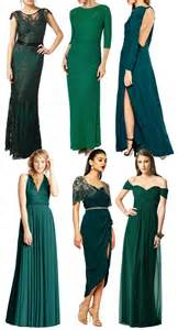 green with envy for these gorgeous green bridesmaid gowns