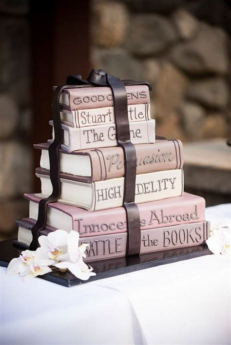 39 chic book themed wedding ideas decor advisor - Wedding Cake Book Design