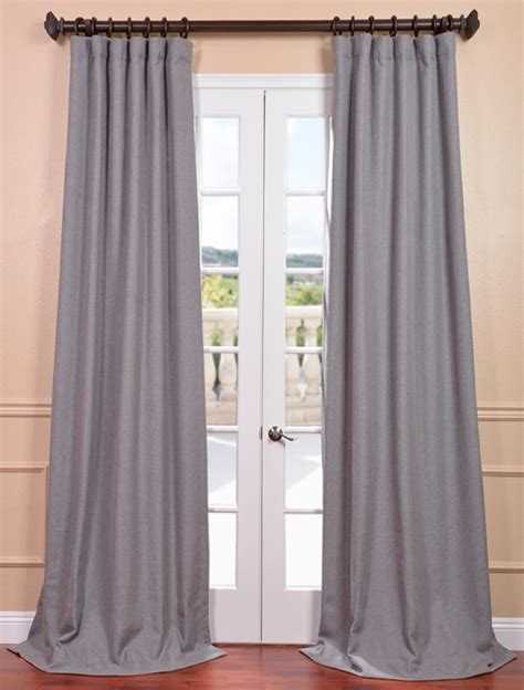 Gray Linen Curtains Pepper Gray Heavy Faux Linen Curtain Contemporary Curtains San Francisco By Half Price