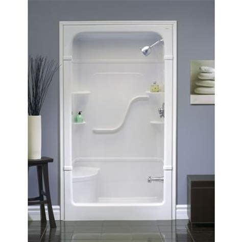 mirolin 48 quot 1 pc shower stall with seat home
