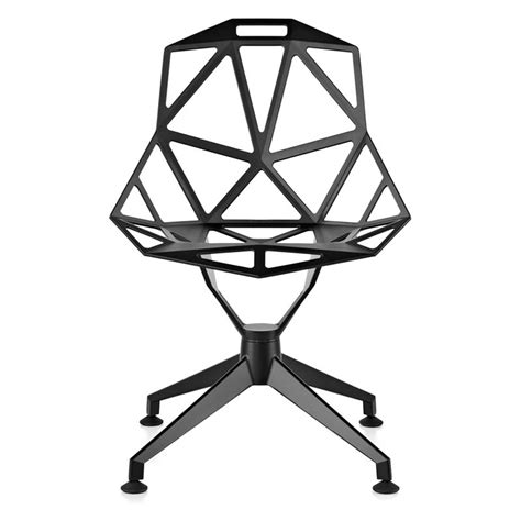 magis chair one 4star magis chair one 4 sedia in alluminio bianco o nero by