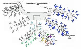 Map Atlanta Airport by Atlanta Airport 1980 Delta Amp Other Airline Stuff