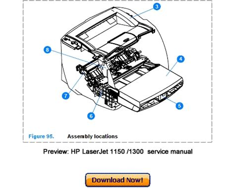 Hp Laserjet 1150 1300 1300n Service Repair Manual Download