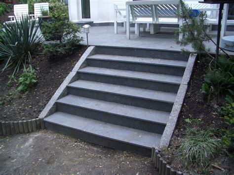 terrasse treppe terrasse schiefer treppen granitborde zufahrt granit