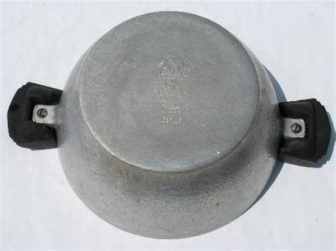 Oven Aluminium Hock No 2 vintage club aluminum pot or casserole for 1 or 2 oven