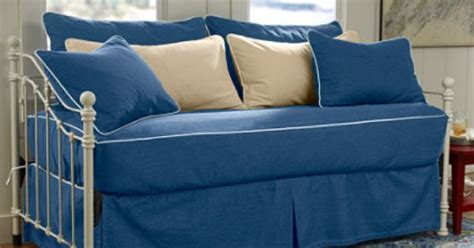 daybed slipcover fitted washable piped fitted slipcover daybed set 149 comes in