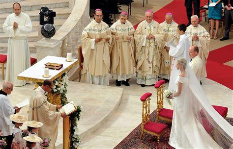 charlene wittstock in monaco royal wedding the religious wedding ceremony zimbio