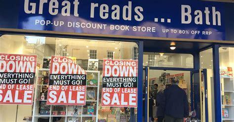 bath book shop  holding closing  sale somerset