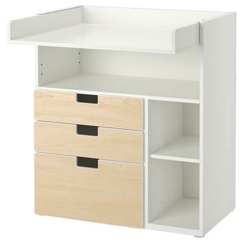 Birch Changing Table Stuva Changing Table With 3 Drawers White Birch Effect 90x79x102 Cm Ikea