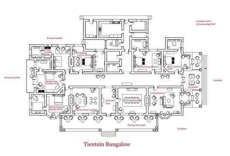 large bungalow house plans tientsin bungalow house floor plans large size