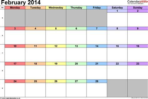printable calendar 2014 a4 calendar february 2014 printable www pixshark com