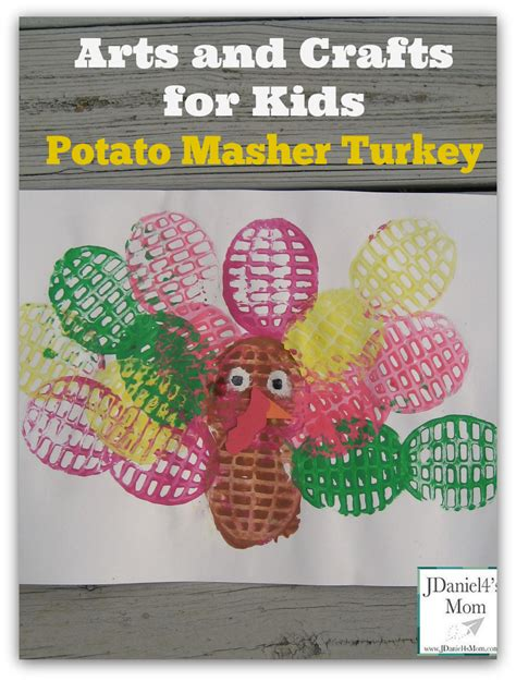 arts and crafts for arts and crafts for potato masher painted turkey