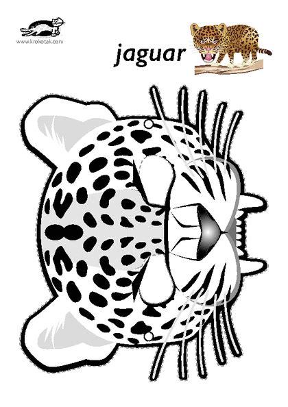 Printable Jaguar Mask   krokotak print printables for kids