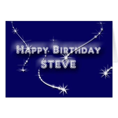 Cold Steve Birthday Card Happy Birthday Steve Greeting Cards Zazzle