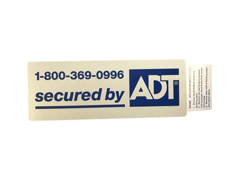 Adt Window Stickers adt window sticker zions security alarms adt