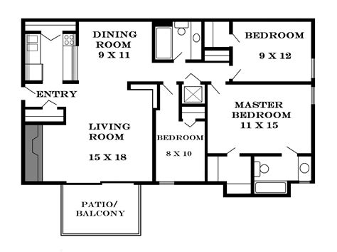 3 bedroom floor plans beautiful modern 3 bedroom house plans modern house plan