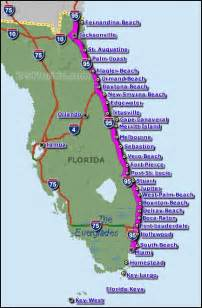map of east florida east coast beaches maps of florida and list of beaches