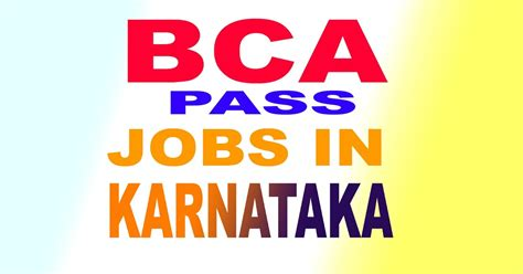 bca recruitment coastal hut bca govt jobs in karnataka