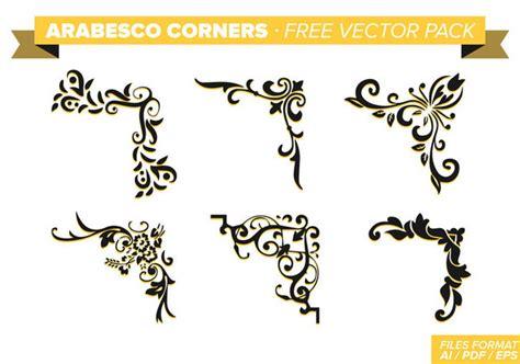 Set5 Hand Drawn Floral Corners Vol 1 Hd Walls Find Wallpapers   arabesco corners free vector pack download de vetor