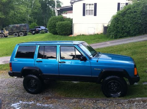 aqua jeep turquoise jeep cherokee pics post your best jeep
