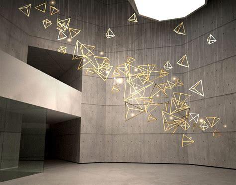 sculptural light installation for areas interiorzine