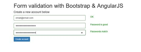 pattern validation in angularjs bootstrap validate email address phpsourcecode net