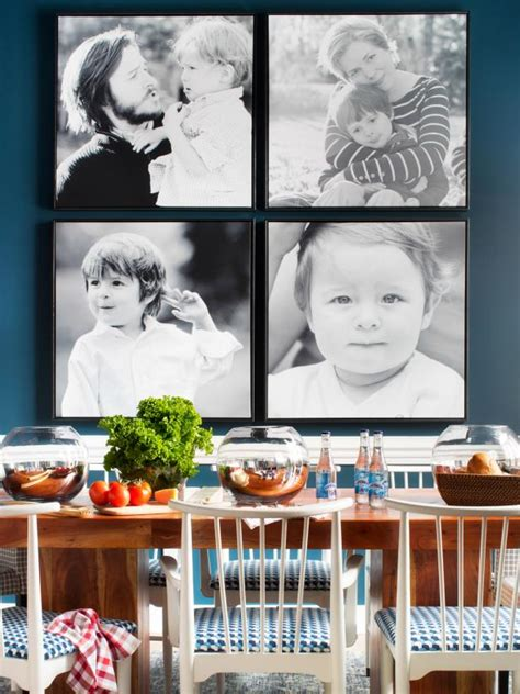 family portrait wall how to make a large family portrait hgtv