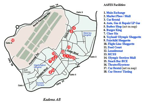 map of air bases in kadena air base