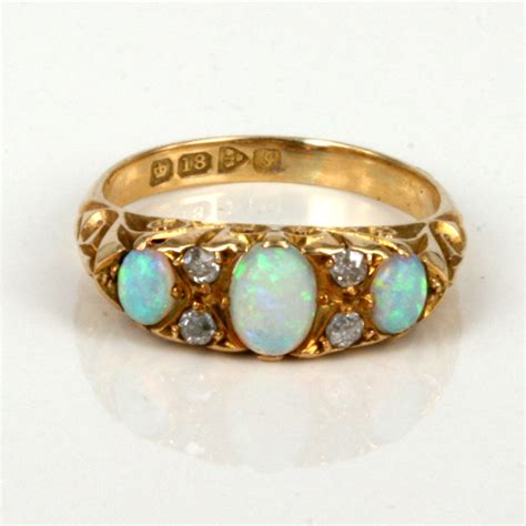 buy antique opal and ring made in 1909 sold items