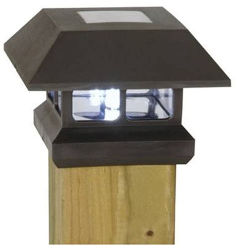 fence post lights solar moonrays solar powered fence post light envirogadget