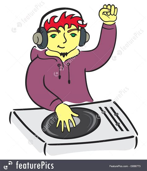 deejay console artists deejay console stock illustration