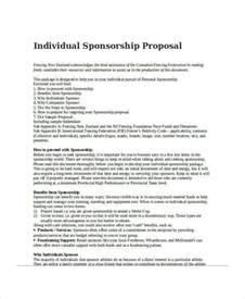 Sponsorship Letter Individual 30 Sponsorship Exles Sles