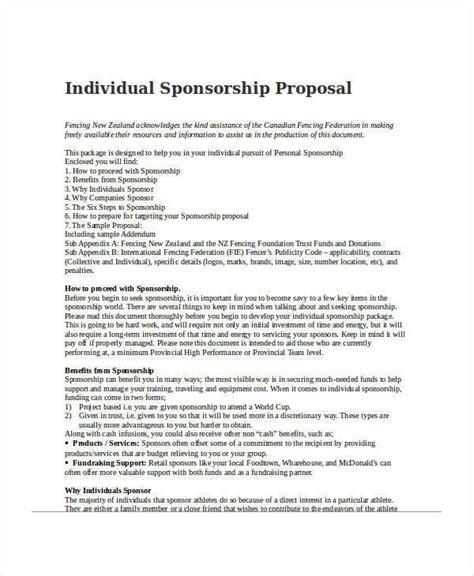 Individual Sports Sponsorship Template 30 Sponsorship Exles Sles