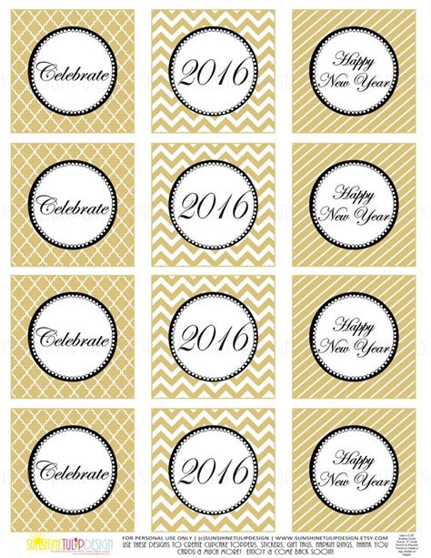 printable new year s stickers printable new years party favor gift tags new years party