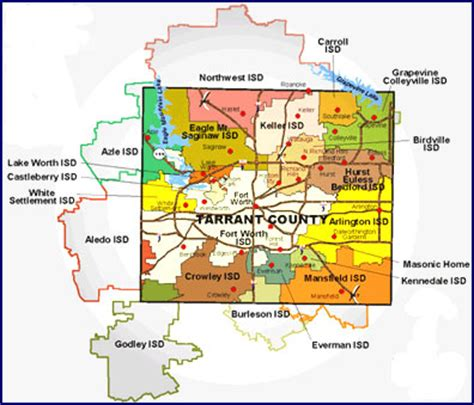 texas independent school districts map tarrant county tx