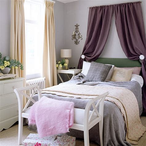 curtains over bed feminine bedroom with curtains hung over the headboard