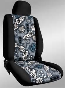 Custom Car Seat Covers Hawaii Black W Blue Thunder