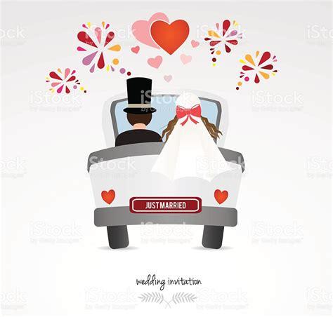 Hochzeit Auto by Hochzeit Einladung Paar In Hochzeit Auto Stock Vektor