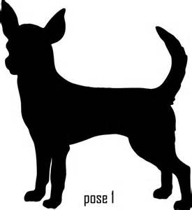 Items similar to 6 inch chihuahua vinyl dog silhouette decal on etsy