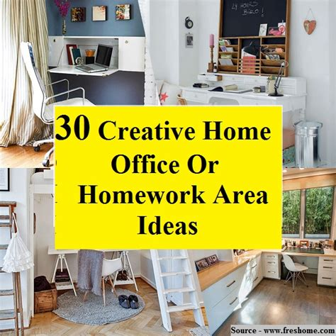 30 creative home office ideas 30 creative home office or homework area ideas home and