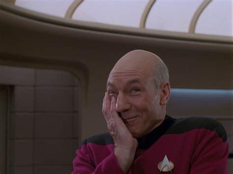 Captain Picard Facepalm Meme - picard caught urinating trek mate