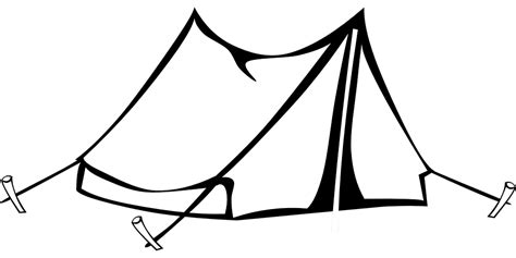 Tent Card Png Template Free by Cing Tent Drawing 183 Free Vector Graphic On Pixabay
