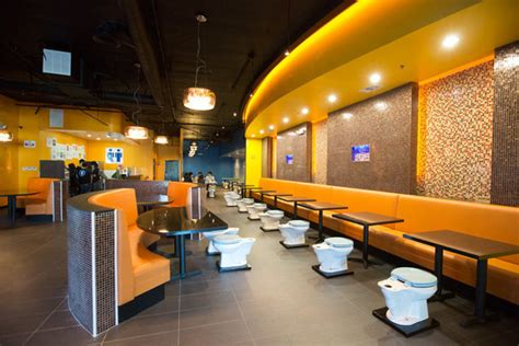 bathroom themed restaurant grody toilet themed restarant opens in los angeles