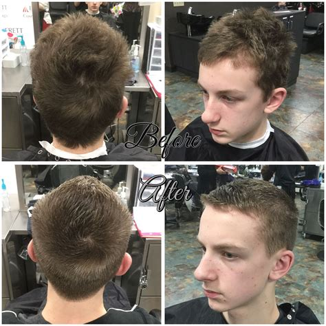 men s haircut by using a 2 guard on sides and fohawk on