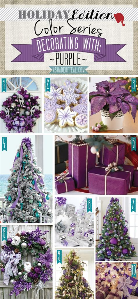 color series holiday edition purple teal decorating