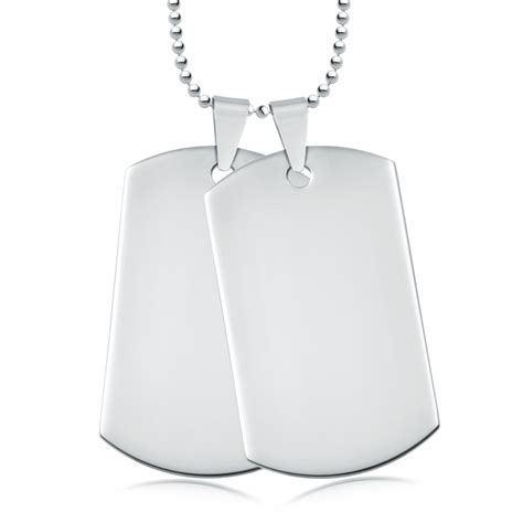 stainless steel tag with chain can be